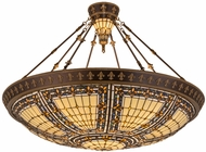Meyda Tiffany 98754 Fleur-de-lis Tiffany Pendant Lighting Fixture
