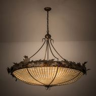 Meyda Tiffany 98968 Acorn and Oak Leaves 52 inches wide 8 Bulb Ceiling Light