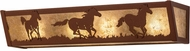 Meyda Tiffany 99070 Wild Horses Country Rust / Silver Mica Fluorescent Bathroom Lighting Fixture