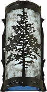 Meyda Tiffany 99174 Tamarack Country Textured Black / Silver Mica LED Sconce Lighting