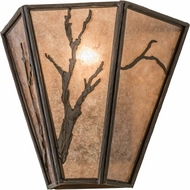 Meyda Tiffany 99385 Branches Country Timeless Bronze / Silver Mica Wall Sconce Light