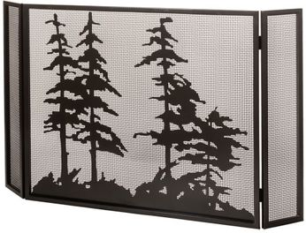 Meyda Tiffany 99675 Tall Pines Country Timeless Bronze Fireplace Screen