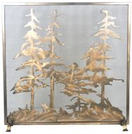 Meyda Tiffany 99766 Tall Pines Rustic Antique Copper Fireplace Screen