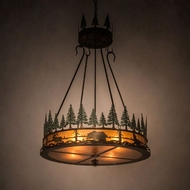 Meyda Tiffany 99769 Wildlife at Pine Lake Country Antique Copper Hanging Light Fixture