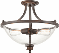 Millennium 3622-RBZ Forsyth Modern Rubbed Bronze Flush Ceiling Light Fixture