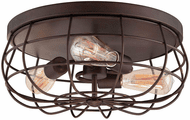 Millennium 5323-RBZ Neo-Industrial Rubbed Bronze Flush Mount Ceiling Light Fixture