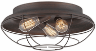 Millennium 5387-RBZ Neo-Industrial Contemporary Rubbed Bronze 17  Ceiling Light Fixture