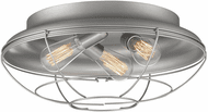 Millennium 5387-SN Neo-Industrial Modern Satin Nickel 17  Flush Lighting