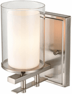 Millennium 5501-BN Huderson Contemporary Brushed Nickel Lamp Sconce
