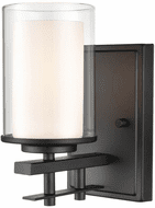 Millennium 5501-MB Huderson Contemporary Matte Black Wall Sconce Lighting