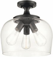Millennium 9713-MB Ashford Matte Black 13  Flush Mount Lighting