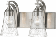 Millennium 1492-SN Natalie Contemporary Satin Nickel 2-Light Lighting For Bathroom