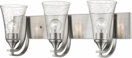 Millennium 1493-SN Natalie Modern Satin Nickel 3-Light Bathroom Light