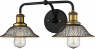 Millennium 1642-MB/HBZ Modern Matte Black and Heirloom Bronze 2-Light Vanity Light