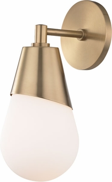 Mitzi H101101-AGB Cora Contemporary Aged Brass Wall Sconce