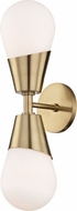 Mitzi H101102-AGB Cora Modern Aged Brass Sconce Lighting