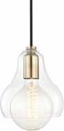 Mitzi H104701L-AGB Sadie Contemporary Aged Brass Mini Hanging Pendant Lighting