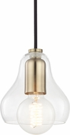 Mitzi H104701S-AGB Sadie Contemporary Aged Brass Mini Pendant Hanging Light