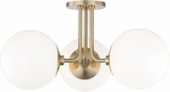 Mitzi H105603-AGB Stella Modern Aged Brass Flush Mount Lighting