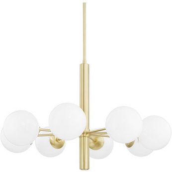 Mitzi H105808-AGB Stella Contemporary Aged Brass 36 Chandelier Lamp