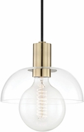 Mitzi H107701-AGB Kyla Modern Aged Brass Mini Ceiling Pendant Light
