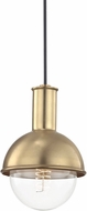 Mitzi H111701-AGB Riley Modern Aged Brass Mini Pendant Lighting Fixture