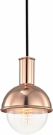 Mitzi H111701-POC Riley Contemporary Polished Copper Mini Ceiling Light Pendant