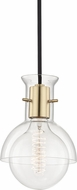 Mitzi H111701G-AGB Riley Contemporary Aged Brass Mini Hanging Pendant Lighting