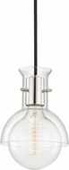 Mitzi H111701G-PN Riley Contemporary Polished Nickel Mini Pendant Hanging Light