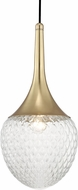 Mitzi H114701B-AGB Bella Contemporary Aged Brass Mini Pendant Lighting Fixture