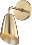 Mitzi H115101-AGB Kai Modern Aged Brass LED Wall Sconce Lighting