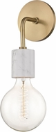 Mitzi H120101-AGB Asime Contemporary Aged Brass Wall Sconce Lighting