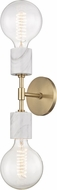 Mitzi H120102-AGB Asime Contemporary Aged Brass Lighting Wall Sconce
