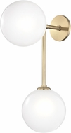 Mitzi H122102-AGB Ashleigh Contemporary Aged Brass LED Wall Light Sconce
