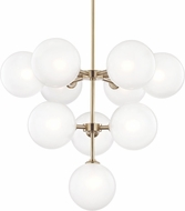 Mitzi H122810-AGB Ashleigh Contemporary Aged Brass LED Chandelier Light