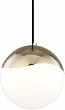Mitzi H125701L-PB Ella Contemporary Polished Brass Mini Hanging Pendant Lighting