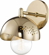 Mitzi H131101-PB Heidi Contemporary Polished Brass Wall Lighting Sconce
