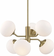 Mitzi H134806-AGB Estee Contemporary Aged Brass Hanging Chandelier