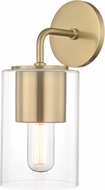 Mitzi H135101-AGB Lula Contemporary Aged Brass Wall Sconce