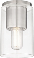 Mitzi H135501-PN Lula Modern Polished Nickel Flush Mount Ceiling Light Fixture