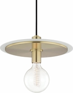 Mitzi H137701L-AGB-WH Milo Modern Aged Brass / White Drop Lighting Fixture