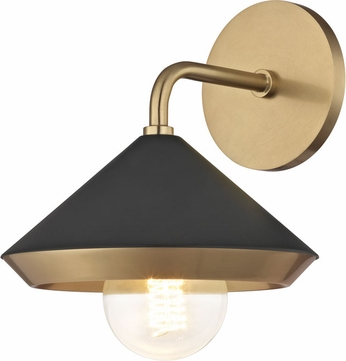 Mitzi H139101-AGB-BK Marnie Contemporary Aged Brass / Black Wall Lighting
