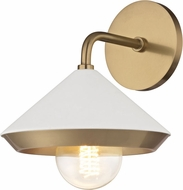 Mitzi H139101-AGB-WH Marnie Modern Aged Brass / White Sconce Lighting