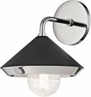 Mitzi H139101-PN-BK Marnie Contemporary Polished Nickel / Black Light Sconce
