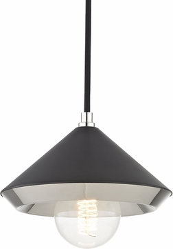 Mitzi H139701S-PN-BK Marnie Contemporary Polished Nickel / Black Mini Drop Lighting