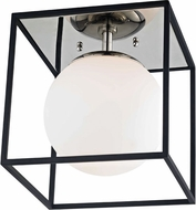 Mitzi H141501S-PN-BK Aira Modern Polished Nickel / Black 9.5  Flush Mount Light Fixture
