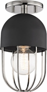 Mitzi H145601-PN-BK Haley Contemporary Polished Nickel / Black Ceiling Lighting Fixture