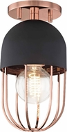Mitzi H145601-POC-BK Haley Modern Polished Copper / Black Ceiling Light Fixture