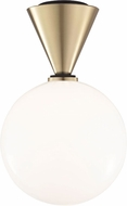 Mitzi H148501L-AGB-BK Piper Modern Aged Brass / Black LED Overhead Lighting
