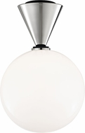 Mitzi H148501L-PN-BK Piper Contemporary Polished Nickel / Black LED Flush Mount Light Fixture